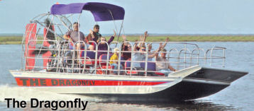 The Dragonfly 15 passenger airboat